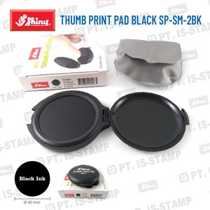 Shiny Thumb Print Pad Black Sp-Sm-2Bk