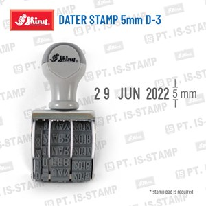 Shiny Dater Stamp 5Mm D-3