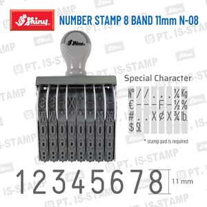 Shiny Number Stamp 8 Band 11Mm N-08