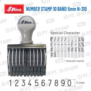 Shiny Number Stamp 10 Band 5Mm N-310