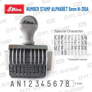Shiny Number Stamp Alphabet 5Mm N-310A