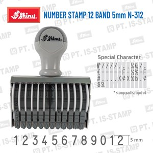 Shiny Number Stamp 12 Band 5Mm N-312