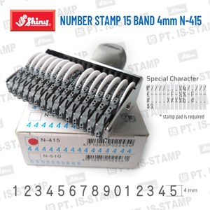 Shiny Number Stamp 15 Band 4Mm N-415