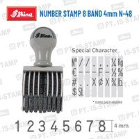 Shiny Number Stamp 8 Band 4Mm N-48 1