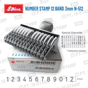 Shiny Number Stamp 12 Band 3Mm N-512