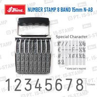 Shiny Number Stamp 8 Band 15Mm N-A8 1