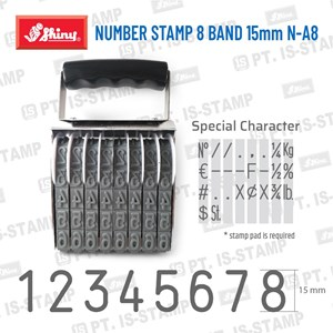 Shiny Number Stamp 8 Band 15Mm N-A8