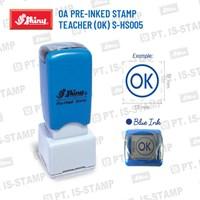 Shiny Oa Pre-Inked Stamp Teacher (Ok) S-Hs005 1