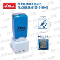 Shiny Oa Pre-Inked Stamp Teacher (Passed) S-Hs006 1