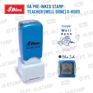 Shiny Oa Pre-Inked Stamp Teacher (Well Done) S-Hs011