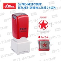 Shiny Oa Pre-Inked Stamp Teacher (Shining Star) S-Hs014 1