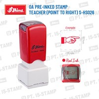Shiny Oa Pre-Inked Stamp (Point To Right) S-Hs026 1