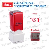 Shiny Oa Pre-Inked Stamp (Point To Left) S-Hs027 1