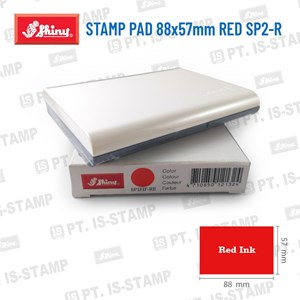 Shiny Stamp Pad 88X57mm Red Sp2-R