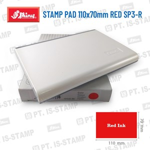 Shiny Stamp Pad 110X70mm Red Sp3-R