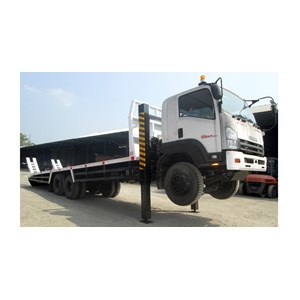Self loader with hydraulick jack dan winch