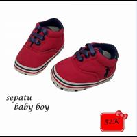 Jual Sepatu Bayi Prewalker Baby Boy - Casual Red