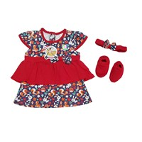 Distributor Baju Bayi Dress Anak Vinata  VO - OWL 3