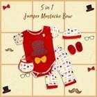 Baju Bayi Jumper Viinata Dev Vr - Mustache Set 3