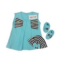 Jual Baju Bayi Dress Anak Vinata  Dev Vo - Stripy Ribbon
