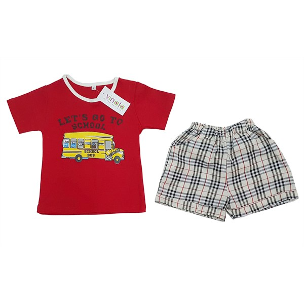 Pakaian Bayi Setelan Bayi Vinata Dev Ve - Go To School