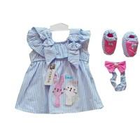 Jual Baju Bayi Dress Anak Vinata Dev Vo - Stripy Rabbit
