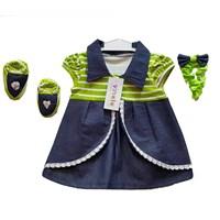 Jual Baju Bayi Dress Anak Vinata Dev Vo - Denim Stripy