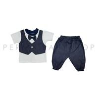 Jual Pakaian Bayi Setelan Bayi Vinata Dev Is - Denim RIbbon