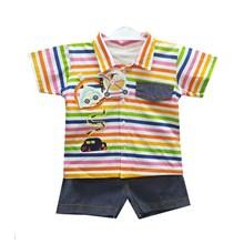 Pakaian Bayi Setelan Anak Vinata Dev Va Ie - Stripe Rainbow