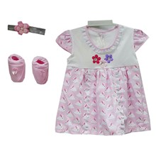 Pakaian Bayi Dress Bayi Vinata Dev Vo - Floral Lace