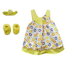 Pakaian Bayi Dress Bayi Vinata Pon Pon - Ribbon Flowers