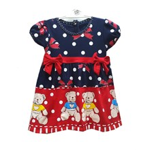 Pakaian Bayi Dress Bayi Vinata Dev Va - Polka Bear