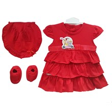 Pakaian Bayi Dress Bayi Vinata Dev Vo - Red Slice