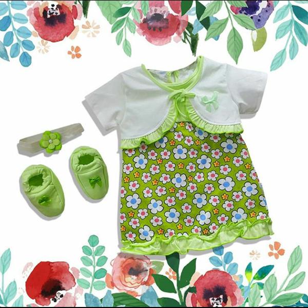 Baju Bayi Dress Bayi Vinata Pon Pon - Daisy Cardy
