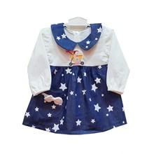 Pakaian Bayi Dress Bayi Vinata Dev Vv - Denim Starlight
