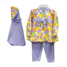 Baju Muslim Anak Gamis Anak Dev Ie - Flowery Ribbon