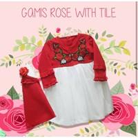 Baju Muslim Anak Gamis Anak Dev Ie - Flowery Lace