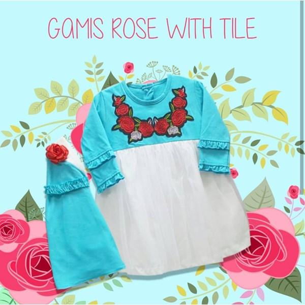 Baju Anak Muslim Gamis Anak Dev Ie - Rose
