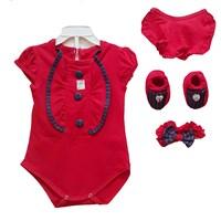 Jual Pakaian Bayi Jumper Bayi Vinata 5in1 - Denim Button