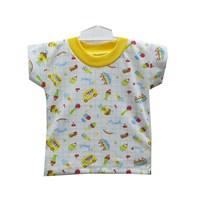 Pakaian Bayi Oblong Bayi Vinata Putih Full Print - Pendek