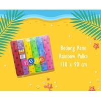Aksesoris Bayi dan Peralatan Bayi Bedong Bayi Rene - Rainbow Polkadots
