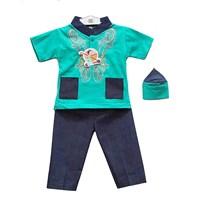 Jual Baju Anak Baju Koko Bayi Vinata Denim Warna - Pendek