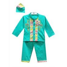 Baju Anak Baju Koko Bayi Vinata Pattern Rainbow Navajo