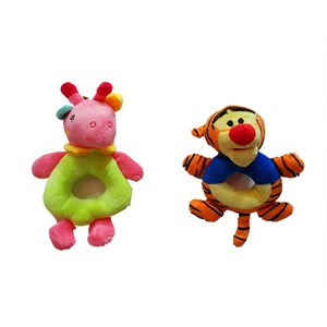 Boneka Mainan Anak Rattle Stick Gelang Rattle Animals