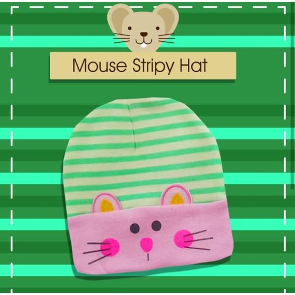 Produk dan Peralatan Bayi Topi Bayi Nia - Mouse Stripy Hat