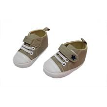 Baby Mc Prewalker Baby Shoes - Brown Stars