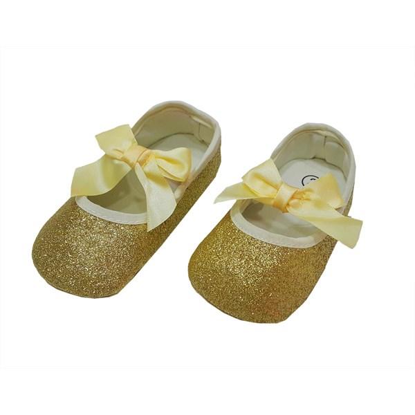 Sepatu Bayi Prewalker Baby Mc - Slip On Gold