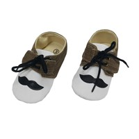 Sepatu Bayi Prewalker Baby Mc - Mustache Brown
