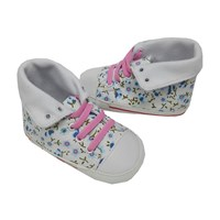Prewalker Baby Shoes Baby Mc - White Blue Flowers