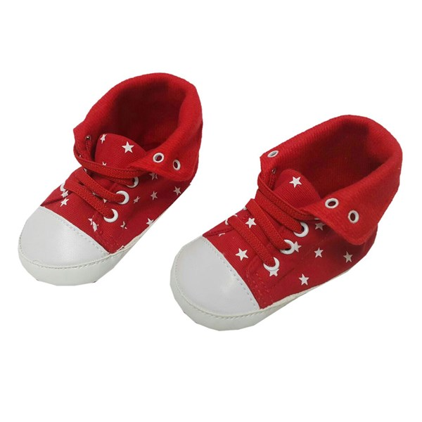 Baby Prewalker Baby Shoes Mc - Red Polka